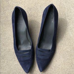 Stuart weitzman blue suede shoes